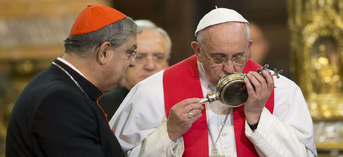 For the first time in over 150 years -- Blood of St. Januarius liquefies during Francis' visit to Naples