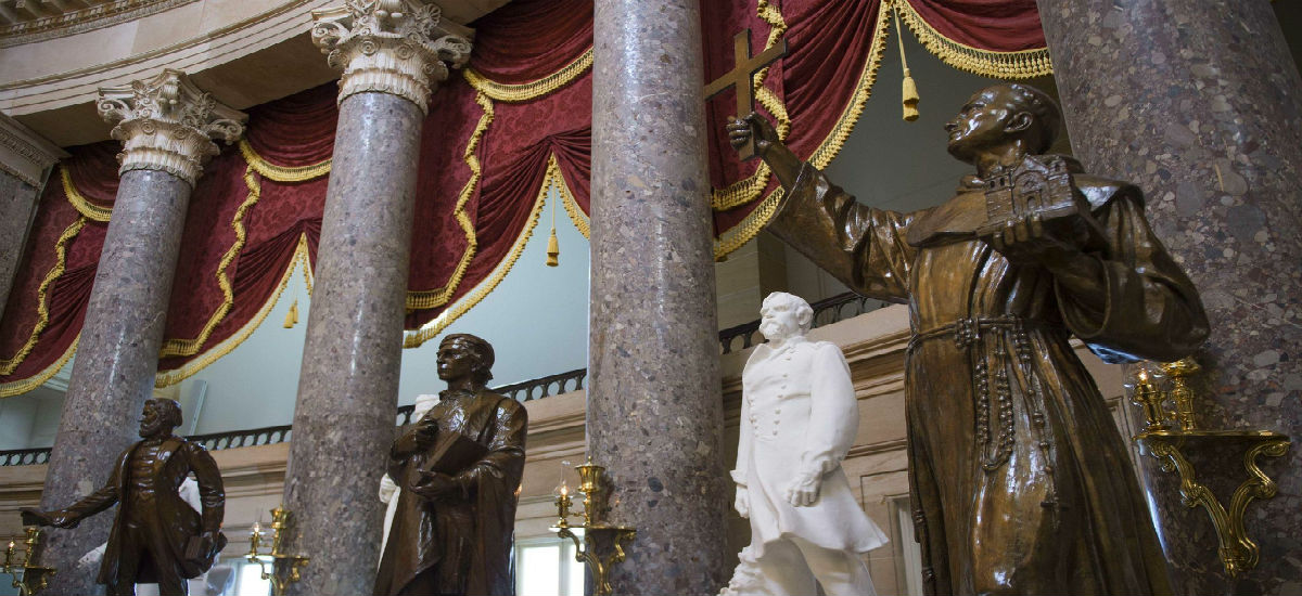 California legislature's who HATE Catholics want Father Juniper Serra statue OUT of Capital