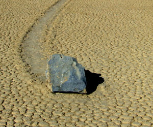 Sailing stones mystery
