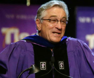DeNiro talks tough