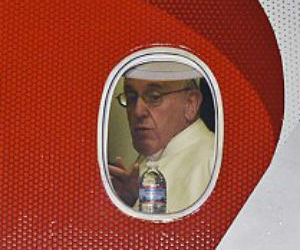 Pope in the air