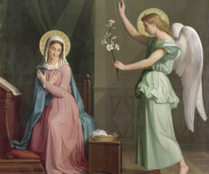 Annunciation here?