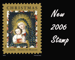 CHRISTMAS STAMP DEPICTING 'MADONNA AND CHILD WITH BIRD'