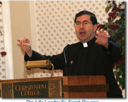 Commencement ceremonies across the country are meant to be times of celebration for the various institutions, and a time to honor individuals from whom we want our graduates to learn and grow as young Catholics entering today's increasingly secularized society,says Christendom College President Dr. Timothy O'Donnell.