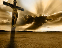 We are called to follow the One who stretched out His arms and embraced the whole world on that second tree on Calvary's hill, doing for us what we could never do for ourselves. That Cross brought heaven to earth and earth to heaven, forming a bridge between them. With His great act of surrendered love, He who knew no sin ended the separation which resulted from it and created the world anew in Himself.
