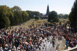 A gathering for prayer at the Blue Army/World Apostalate of fatima.