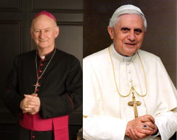 Bishop Murray and Pope Benedict XVI.