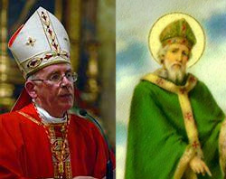 Cardinal Sean Brady, Primate of All Ireland, and Bishop Patrick, the Patron of the irish People.