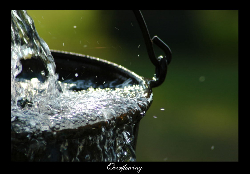 Refreshment and restoration, rushing, flowing, moving, springing, redeeming, musical, quenching water.