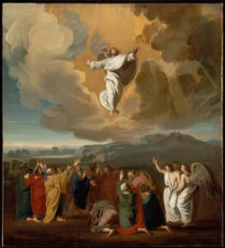 The lifting up of Jesus on the cross signifies and announces his lifting up by his Ascension into heaven, and indeed begins it.