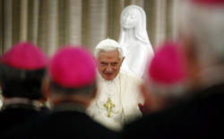 Pope Benedict XVI addresses the bishops of Portugal.