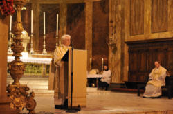 Deacon Jack Sullivan Reads the Gospel and preaches at the Newman Oratory.
