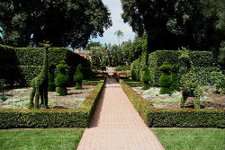 This delightful topiary garden is just one of the many attractions on view at Montecito's Lotusland.
