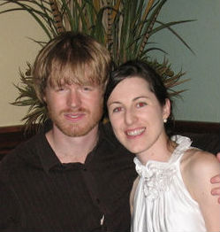 Photo of Danny Gouge and Nina Madden taken on the night of their engagement blessing.