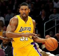 As a child, L.A. Laker Ron Artest received therapy through a government program that was discontinued once government funding ran out. He intends to repay the favor by auctioning off his championship ring to benefit children's mental health.