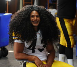 Pittsburgh Steeler Troy Polamalu is set to appear in a series of TV spots and print ads flaunting his hair for the shampoo company.