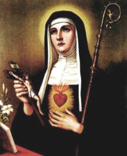 Wednesday's lesson was about St. Gertrude the Great (1256-1301 or 1302), 'the only woman of Germanic descent to be called 'the Great,'' he noted, 'because of her cultural and evangelical stature.'