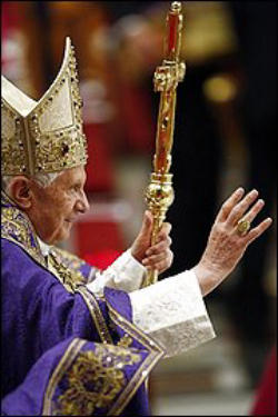 Pope Benedict XVI leading a Global Prayer Vigil for all Nascent Human Life