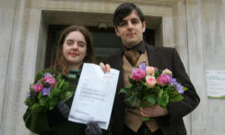 Tom Freeman and Katherine Doyle are part of a campaign led by 'The Equal Love campaign' and 'Project OutRage'.