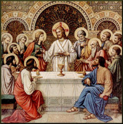 'Paying less attention at times to the rite of the Most Holy Sacrament constitutes a sign and a cause of the darkening of the Christian sense of mystery, such as when Jesus is not the centre of the Mass, but rather a community preoccupied with other things instead of being taken up and drawn to the only one necessary: their Lord..if the figure of Christ does not emerge from the liturgy . it is not a Christian liturgy' Pope Benedict XVI.