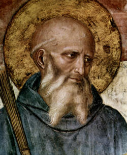 Saint Benedict, a father of Western Monasticism and co-patron of Europe