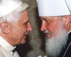Pope Benedict XVI and Patriarch Cyril