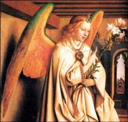 In the New Testament the angels are integral to the mystery of the Incarnation. They are present to give God's message of the incarnation, first to the Blessed Virgin Mary, then to Zachariah, then to Joseph, finally to the shepherds.