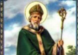 Image of Saint Patrick not the first to bring Christianity to Ireland, but it is Patrick who is said to have encountered the Druids at Tara and abolished their pagan rites.