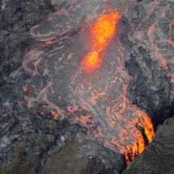 Visitors have been flocking to the Hawaii Volcanoes National Park to catch a glimpse of the 2,000-degree Fahrenheit glowing, red-orange lava that is shooting 65 feet high.