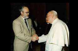 Dr. Thomas Hilgers with Pope John Paul II