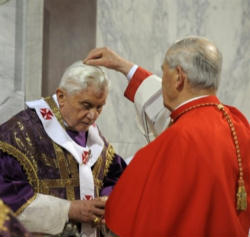 Pope Benedict XVI, penitent and pilgrim
