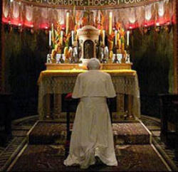 Catholic Priest Praying