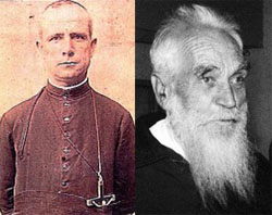 (Photo Catholic News Agency) Fathers Francisco Esteban Lacal and Clemente Vismara