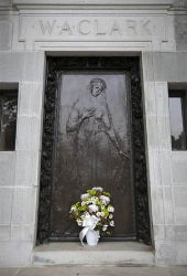 There was no priest for Huguette Clark, who was raised a Roman Catholic, like her mother. She was laid to rest next to her father, mother and sister in the recently restored mausoleum.