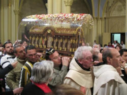 The relics of the Saint Processed through the Holy Land