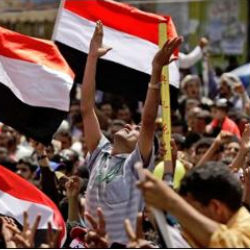 Tens of thousands of pro-democracy protesters have seized the day to proclaim what they call the fall of the Yemeni government.