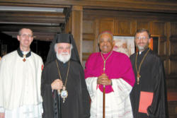 Fr Paul Burke, Chair of the Theology faculty at Holy Spirit College, Metropolitan Alexios of the Greek Orthodox Metropolis of Atlanta, Most Reverend Archbishop Wilton D Gregory of Atlanta and the Very Rev. Fr. George Tsahakis