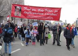 The Anglican Ordinariate was represented at the Annual March for Life in Washington, DC