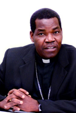 Sudanese Bishop Eduardo Hiiboro Kussala of the Diocese of Tombura-Yambio. During a recent visit to the United States, Sudanese Bishop Eduardo Hiiboro Kussala said, 'In the run-up to the referendum, there was much written about the bad scenarios leading to war. Because of the faith of the people, God blessed us with a peaceful referendum. And I believe, because of the people's commitment and faith, we can build a Sudan of peace.'