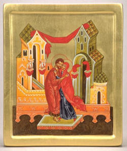 A popular icon of Saints Joachim and Ann