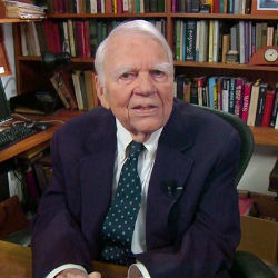 Andy Rooney defined the term 'curmudgeon' -- no topic was spared hic comic wrath. The 92-year-old commentator made his final appearance on '60 Minutes' on Sunday.