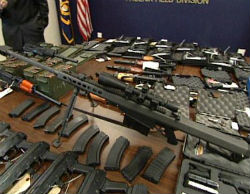 A cache of weapons recovered from the Mexican cartels. Several of these weapons were recovered only after they were used for murder.