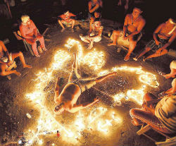 Shamanistic rituals like this one are frequently used in place of modern psychology or medicine.