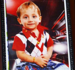 Three-year-old Adam Udai martyred on October 31, 2010