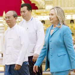 U.S. Secretary of State Hillary Clinton will travel to the former capital where she will meet opposition leader Aung San Suu Kyi, the head of the National League for Democracy and a Nobel laureate who has spent much of the last two decades in prison.