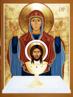 Our Lady of the Cenacle Icon of the Monastic community