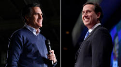 Mitt Romney and Rick Santorum