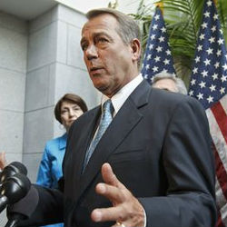 'We were not going to allow Democrats to continue to play games and cause a tax increase for hardworking Americans,' House Speaker John Boehner said, defending the decision to move forward with an unpaid extension. Boehner argued it was the only way to prevent a tax hike demanded by Democrats to help pay the cost.
