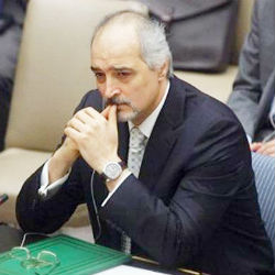 Bashar Jaafari, Syria's ambassador to the U.N., criticized the Arab sponsors of the resolution, saying Western powers had exploited them to 'internationalize' the crisis. 'The Arab Trojan horse has been unmasked today,' he said.