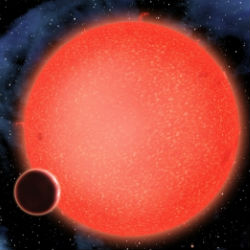 Described as a 'super-Earth,' GJ1214b is about 2.7 times Earth's diameter.